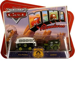 Price comparison product image Disney CARS Mini Adventures Radiator Springs 2-Pack Fillmore & MP Sarge