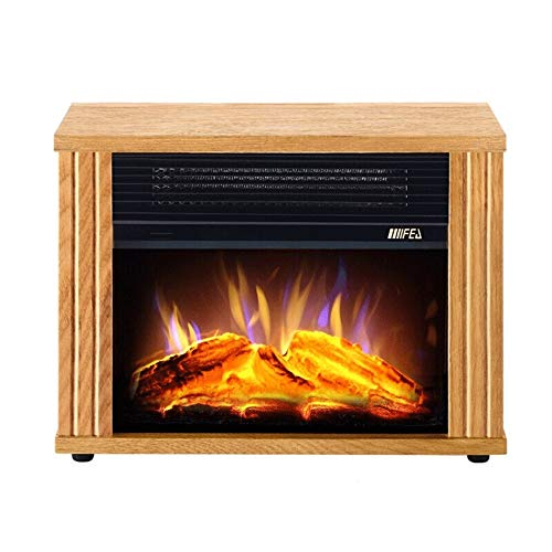 Cheap RKRGQ 900/1800W Electric Fireplace Freestanding Fireplace Fireplace Stove Heater Log Burner Electric Fire Stove Electric Fireplace Heater with Realistic Flame Effect Overheat Protection Black Friday & Cyber Monday 2019