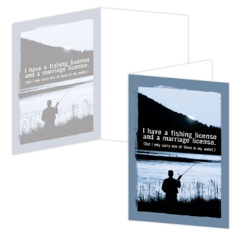 EcoEverywhere Fishing License Boxed Card Set, 12 Cards an...