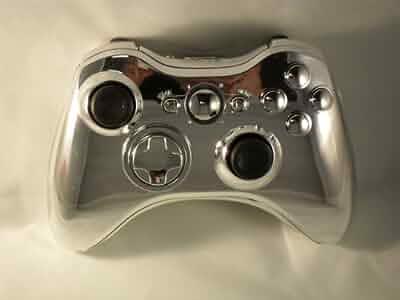 Amazon com: CHROME Xbox 360 Modded Controller (Rapid Fire) COD Black