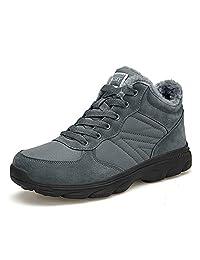 TORISKY Men's Women's Snow Boots Fully Fur Lined Waterproof Winter Shoes Ankle Cotton Fluff Warm Sneakers