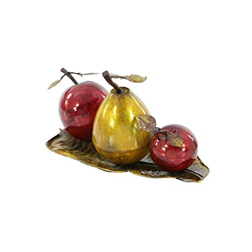 Charlton Home Distressed Fruit Sculpture, Rust Free Metal Alloy + Free Basic Design Concepts Expert Guide