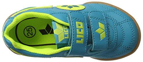 Lico Bernie V, Zapatillas de Balonmano Unisex Niños Azul (Petrol/lemon)