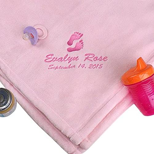 Personalized baby blanket amazon giftsforyounow baby girl personalized blanket embroidered faux minx fabric 30 x 40 negle Images