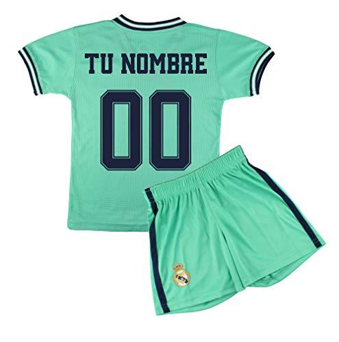 Champion's City Kit – Personalizable – Camiseta y Pantalón Infantil Tercera Equipación – Real Madrid – Réplica…