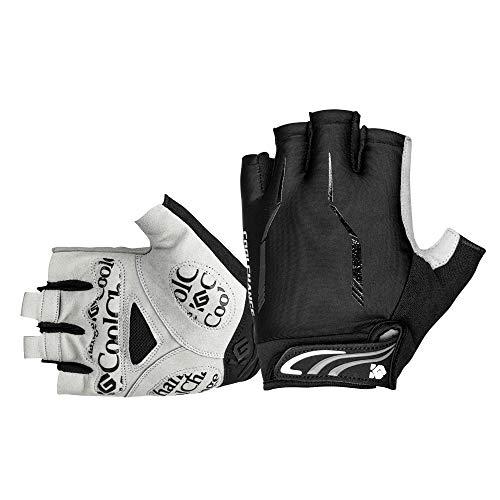 Cool Change Cycling Gloves Mountain Bike Gloves SBR Pad Shockproof | Anti- Slip | Breathable Gloves Half Finger Bicycle Gloves for Men Women (Black, US:L CN:XL: (Palm Girth: 8.27''-8.66''))
