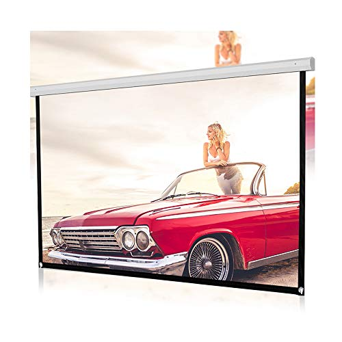 Lebeauty Projector Screen 120inch HD Projector Screen 16:9 Ideal for Meeting and Conference Classroom Training Public Display Home Cinema Party KTV Playing Game Backyard Movie Etc