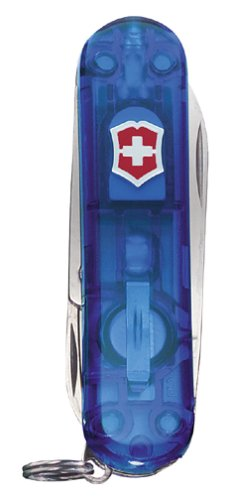 Victorinox Swiss Army Signature Lite Pocket Knife (Translucent Sapphire)