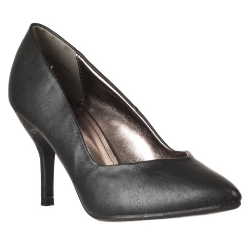 Riverberry Womens Deluxe Pointed Toe Stilettos Black Pu txhdCe