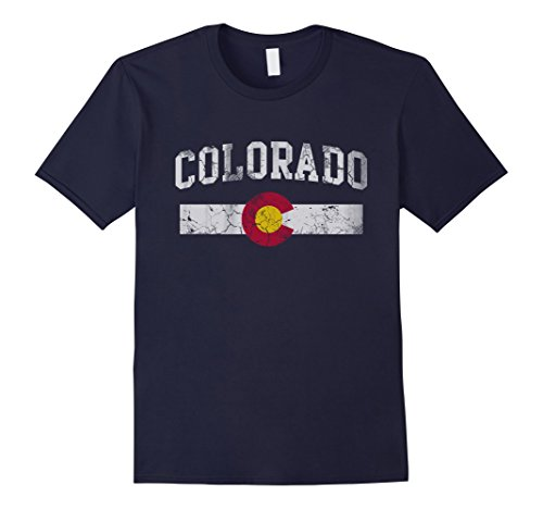 Mens Retro State of Colorado Flag Shirt Large - Retro Flag