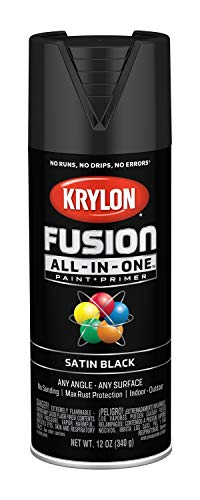 Krylon K02732007 Fusion All-in-One Spray Paint, Black