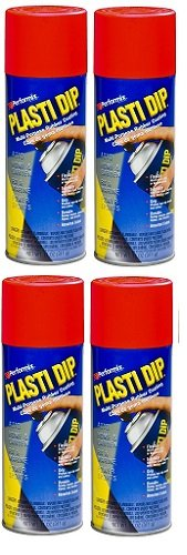 4 PACK PLASTI DIP Mulit-Purpose Rubber Coating Spray RED 11oz Aerosol