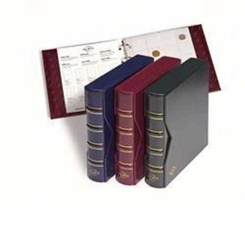 LEUCHTTURM Münzalbum Numis Blau | Ringbinder inklusive Schutzkassette | Sammelalbum für Münzen jeglicher Art (ohne Inhalt)
