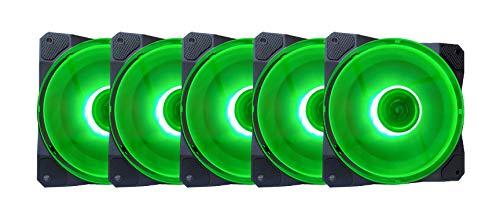 Ventilador Apevia CO512L-GN Cosmos 120mm Green LED Ultra Sil
