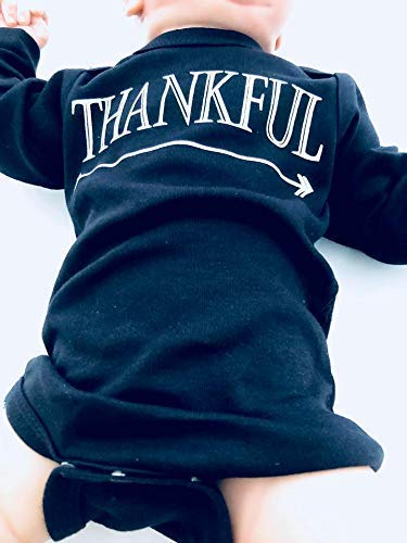 Long Sleeve Blessed Grateful Miracle Infant Bodysuit Fall Baby Clothes Giving Thanks for New Baby Newborn Thankful Outfit Thanksgiving Babies 3-6 Months