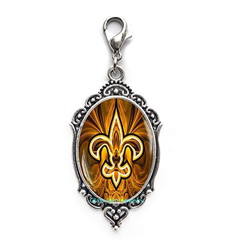 Fleur de lis Zipper Pull,Fleur de lis Lobster Clasp,Fleur de lis Jewelry,Heraldry Jewelry Royal Heraldic Sign,Q0118 (Fleur De Lis Zipper Pull)