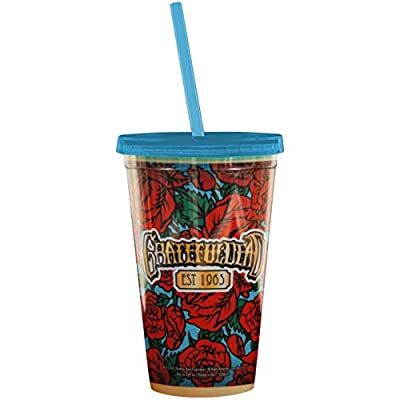 ICUP Grateful Dead 50th Anniversary Cup with Straw, Clear by ICUP