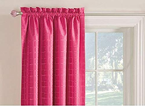 Style Selections 63L Pink Gabby Curtain Panel