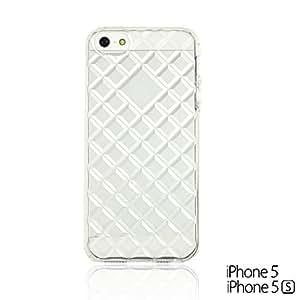 OnlineBestDigital - Transparent Soft Shell Back Case Cover for Apple iPhone 5S / Apple iPhone 5 - DIAMOND hjbrhga1544