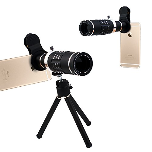 Cell Phone Camera Lens,18X Optical Manual Focus Telephoto Lens Kit with Mini Flexible Tripod for iPhone X/8/8 Plus/7/7 Plus/6s/6s Plus/6/6 Plus/Ipad,Samsung Galaxy and Most Other Android Phones by VANON