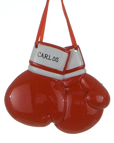 - Personalized Sports Boxing Gloves Christmas Holiday Gift Expertly Handwritten Ornament