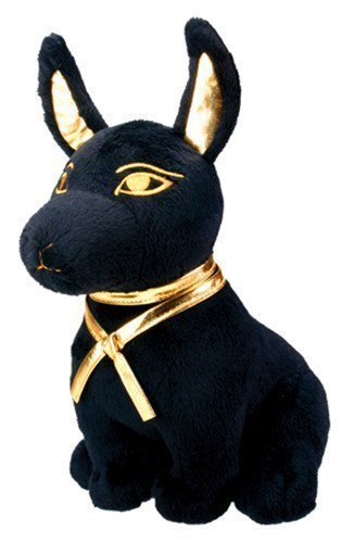 Large Size Egyptian Plush Black & Golden Anubis Stuffed Animal.Soft and (Plush Egyptian Toy)