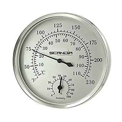 """Scandia MFG Sauna & Steam Thermometer/Hygrometer 5"""" : Garden & Outdoor"""