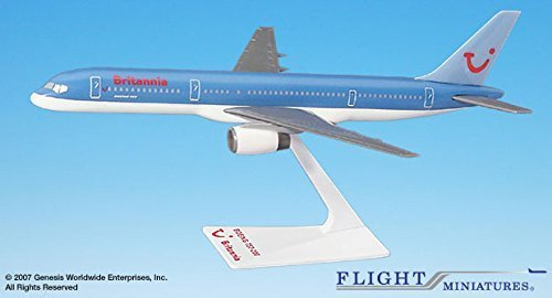 Britannia (NC) 757-200 Airplane Miniature Model Plastic Snap-Fit 1:200 Part#ABO-75720H-055 (Flight Miniatures Snap)