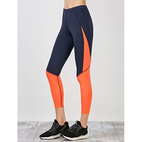 - BeesClover Leggings Women Yoga Pants Fitness Leggings Summer Jogging Elastic Pencil Pants Mujer Patchwork S