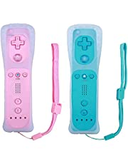 Remote Controller for Wii U Console (Pink and Blue,2 Packs)