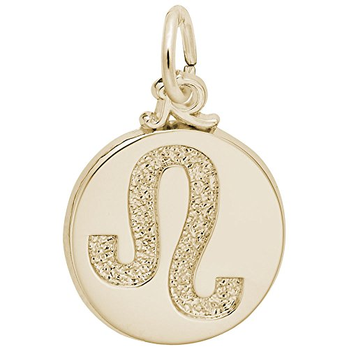 Leo Charm Gold Plated - Gold Plated Leo Charm, Charms for Bracelets and Necklaces