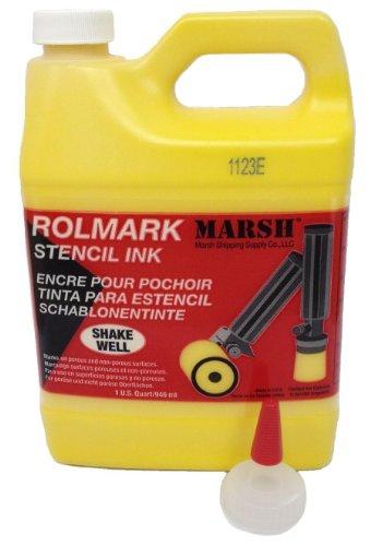 - MARSH Rolmark Stencil Ink, 1 qt Can, Yellow