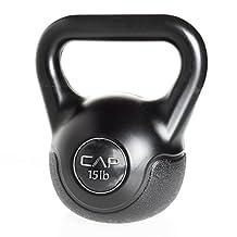 Cap Barbell Fitness 15-Pound Black Vinyl Kettlebell