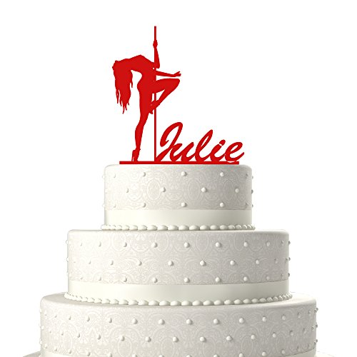 Personalized Cake Toppers Stripper with Pole Birthday Cake Toppers Birthday Decoration Acrylic Cake Topper for Special Events