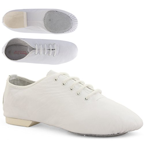 Split Leather White Shoes Dance Jazz 2JSS Gear Sole qnwtnCAxOR