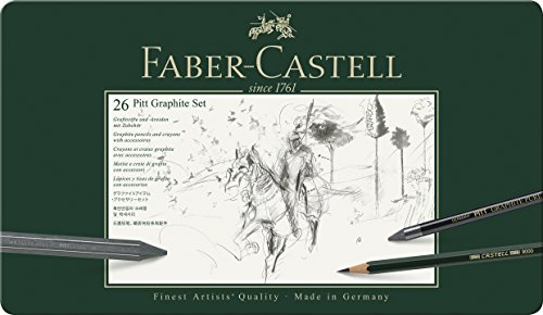 Faber-Castel 26 Piece Pitt Graphite Tin Set