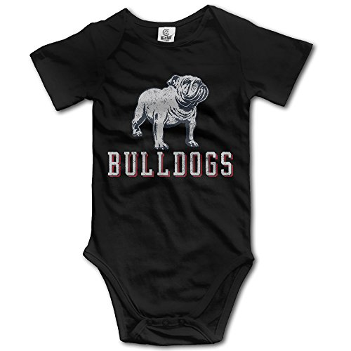 Apytgk6ML Baby Infants 100% Cotton Short Sleeve Onesies Toddler Bodysuit Cruel Bulldog BabySuits