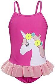 AmzBarley Unicorn Girls One-Pieces Swimsuit Swimwear Bikinis Set