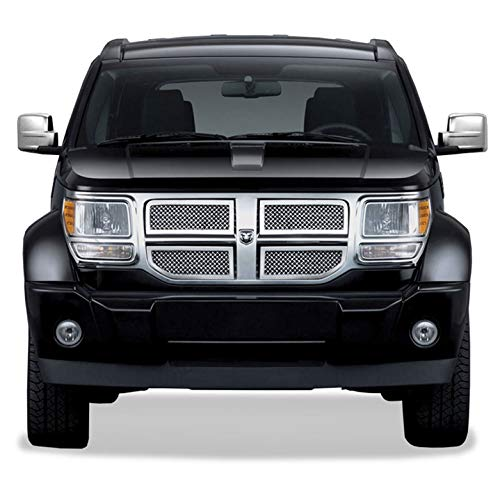 (Upgrade Your Auto SES Chrome Mesh Grille for 2007-2010 Dodge Nitro)
