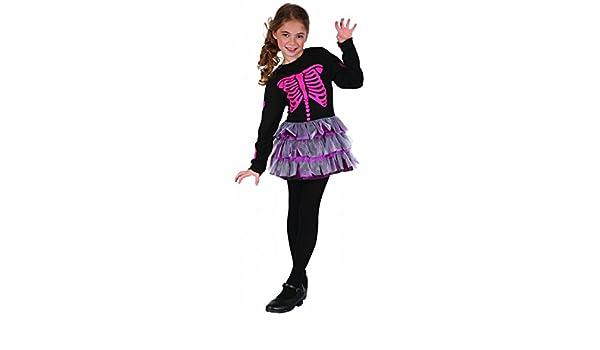 Disfraz esqueleto rosa niña - 7 - 9 años: Amazon.es: Juguetes y juegos