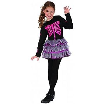 Disfraz esqueleto rosa niña - 4 - 6 años: Amazon.es ...