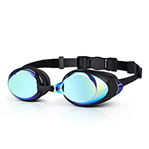 DaHeng Swimming Goggles, Anti-Fog Waterproof Swimming Goggles with Free Protective Box and Earplugs, Adjustable Strap…