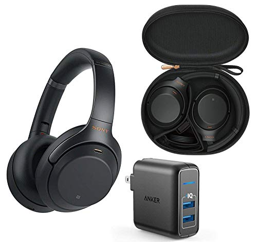 Sony WH1000XM3 Premium Wireless Bluetooth Noise Canceling Over Ear Headphone Bundle with...