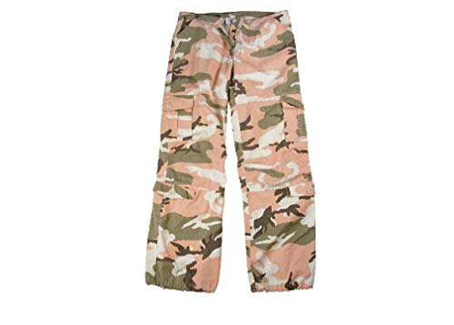 BlackC Sport Subdued Pink Camouflage Vintage Paratrooper Women's BDU Fatigue Pant