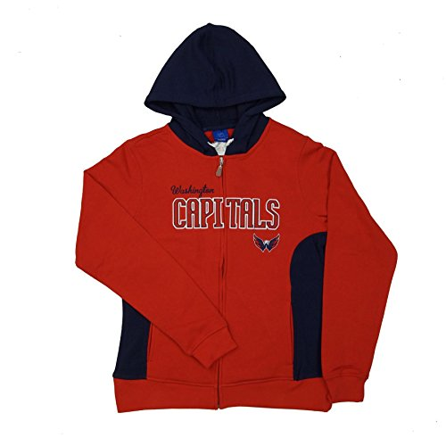 Washington Capitals Women's Reebok NHL Core Full Zip Hooded Sweatshirt, Medium