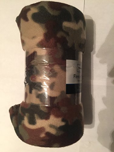 Camouflage Fleece Throw Blanket 50in X 60in - Camo Design