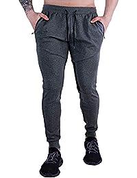 Men's Casual Jogger Pants Running Long Sweatpants Elastic Waist with Pockets