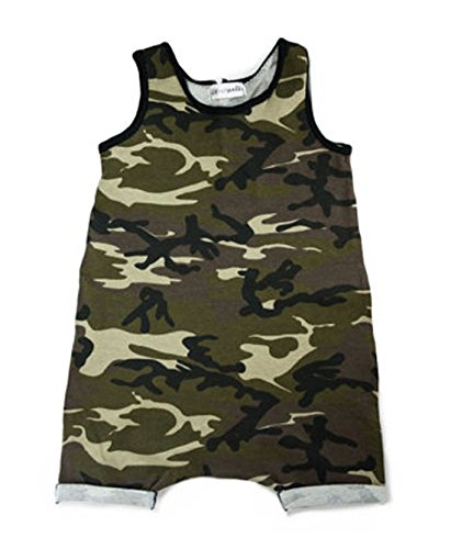 Newborn Infant Kids Baby Boy Girl Causal Loose Romper Jumpsuit Outfits Casual Clothes (Age: 18-24 Months, Camouflage)