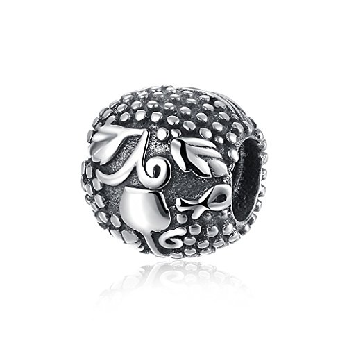 HMILYDYK Charm Beads 925 Sterling Silver Goblet Wine Cup Vintage Jewelry for Pandora Charms Bracelets Necklace