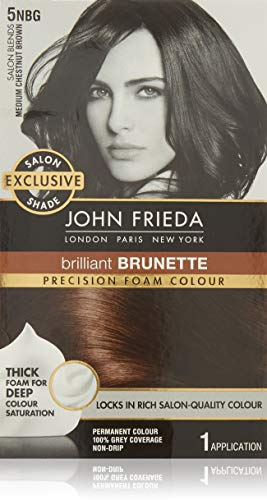 John Frieda Precision Foam Permanent Hair Colour in 5NBG Medium Chestnut Brown (Best Foam Hair Color)